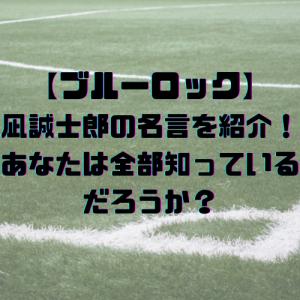 【ブルーロック】凪誠士郎の名言を紹介!あなたは全部知っているだろうか?
