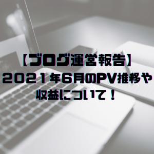 【ブログ運営報告】2021年6月のPV推移や収益について!まだまだ底辺ブロガーです(笑)
