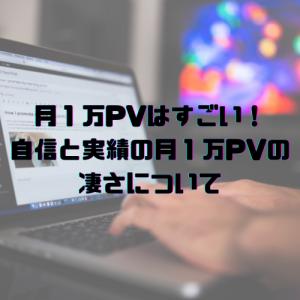 【ブログ運営】月1万PVはすごい!自信と実績の月1万PVの凄さについて
