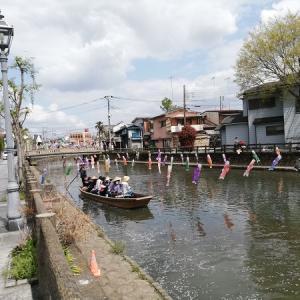 栃木市うずま川の遊覧船がすごく素敵だった