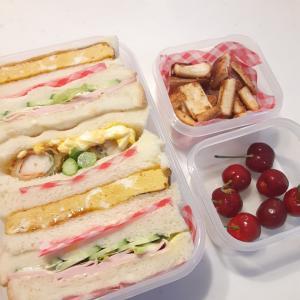 2021/5/27 男子中学生弁当~サンドイッチ弁当と中間テストの結果~