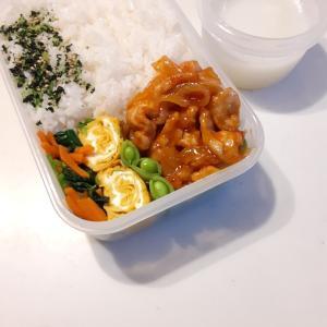 2021/7/6 男子中学生弁当~ポークチャップとカルピス寒天ゼリー~