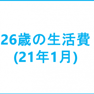26歳の生活費(21年1月)