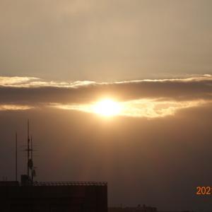 2月21日(日)今日の朝日、今日は何の日??