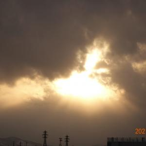 2月10日(水)今日の夕陽