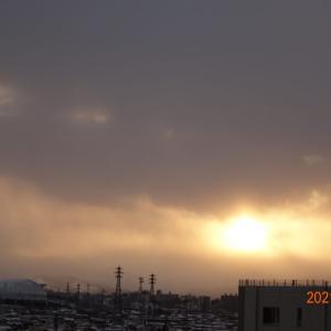2月11日(木)今日の夕陽