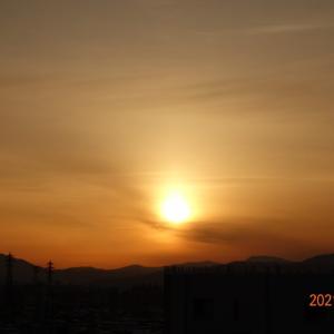 2月12日(金)今日の夕陽