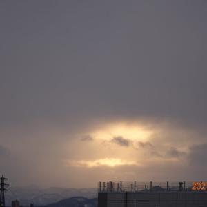 2月17日(水)今日の夕陽