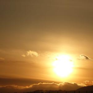 2月21日(日)今日の夕陽