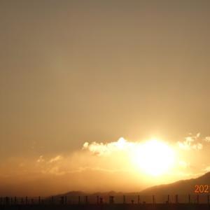2月24日(水)今日の夕陽
