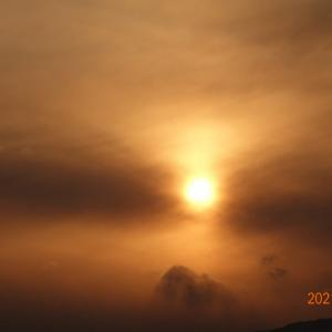 2月25日(木)今日の夕陽