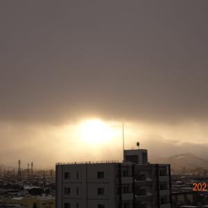 2月27日(土)今日の夕陽