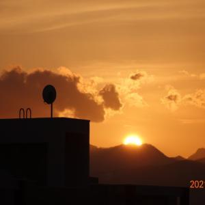 3月5日(金)今日の夕陽