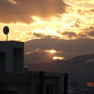 3月8日(月)今日の夕陽