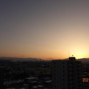 3月9日(火)今日の夕陽