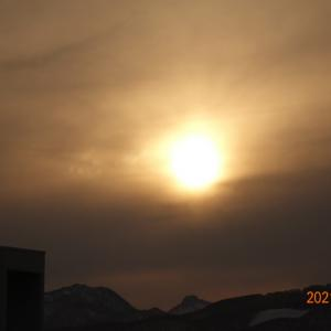 3月14日(日)今日の夕陽