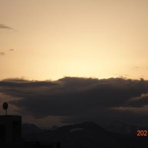 3月16日(火)今日の夕陽