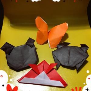 折り紙を一緒にやってみた!
