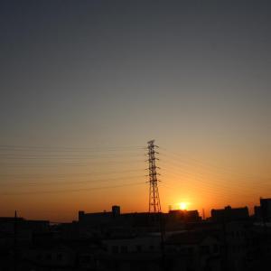 秋の日の夕暮れ
