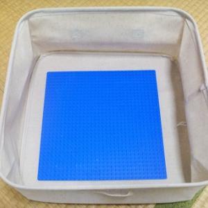 【レゴ収納】無印のソフトボックスを作品の一時保管に。基礎板が入る大きさを探しました!