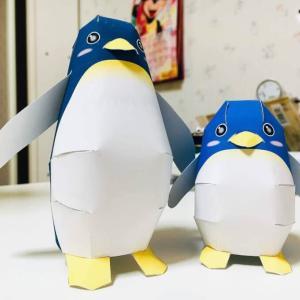 ペンギン親子のペーパークラフトを作ってみた