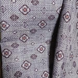 着物生地(266)菱模様織り出し藍染泥大島紬