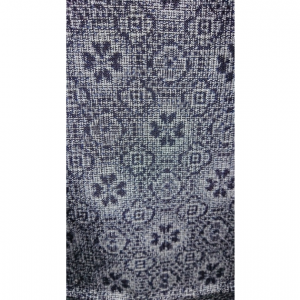 着物生地(267)花模様織り出し村山紬