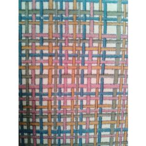 着物生地(373)変わり格子模様手織り紬