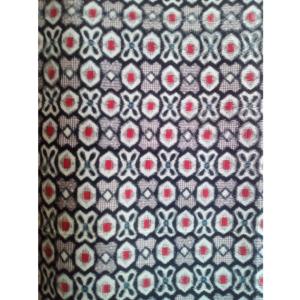 着物生地(410)抽象模様織り出し銘仙