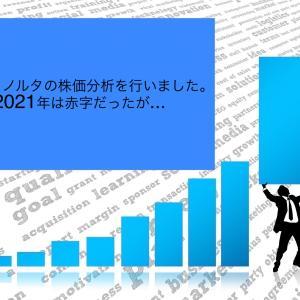コニカミノルタの株価分析を行いました。2021年は赤字だったが…