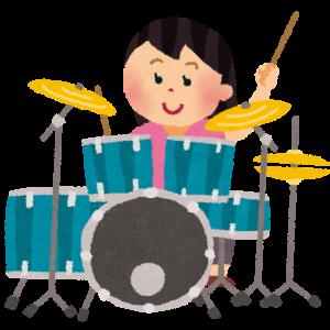 <電子ドラム>と<女性ドラマー>