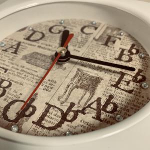 100円ショップの時計を・・・5度圏時計にリメイク〜♪
