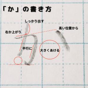 【画像付き】「か」のキレイな書き方を解説!