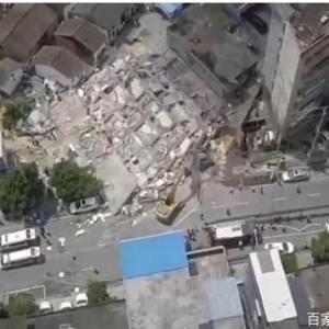 【速報】中国で7階建てマンションが倒壊、5人死亡7人けが