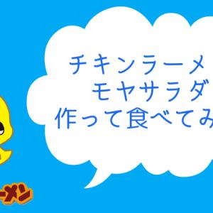 【チキンラーメンモヤサラダ】もやしにIN!!恐る恐る試してみた。