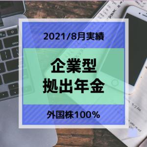 企業型確定拠出年金 運用実績 8月