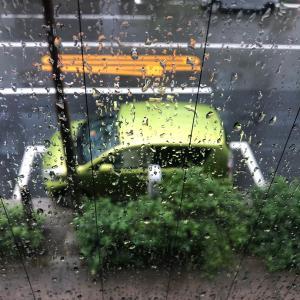 台風で大雨・・車で出勤した時の悩み