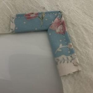バイアステープの角の凹凸の縫い方
