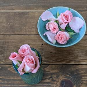 バラの切り花が スズラン状態に なんとか活け替えてみる!