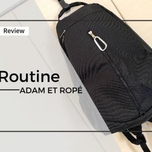 即完売だったアダムエロぺのバックパック「Routine」の紹介!学生にピッタリだけどノマドワーカーにはオススメできません。