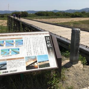 流れ橋 京都木津川に架かる全長356.5mの日本最大級の木造橋