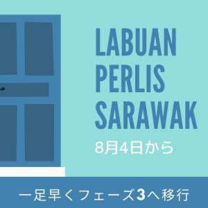 ラブアン、ペルリス、サラワクが8月4日からフェーズ3へ!