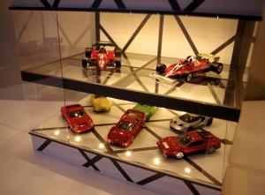 白木&ガンメタ・2層式大容量タイプ・ディスプレーBOX / 床・天井にLED照明付/トミカで28台、1/43で8~10台収納 / SNSなどにも最適