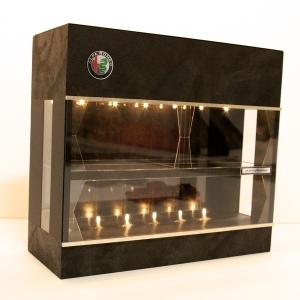 オーダー完成品・2層式・黒ディスプレーBOX