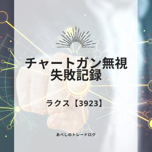 あべしのトレードログ ~ラクス【3923】:セオリーは守ろう!チャートガン無視失敗事例~