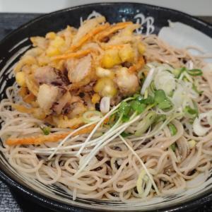 ゆで太郎システムさんの2021年8月メニュー!! ゲソと夏野菜のかきあげそばを食べてきた