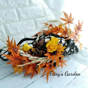 【作品ギャラリー】季節に合わせてお花を飾る ~紅葉の秋~