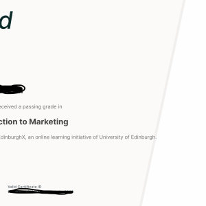 Introduction to Marketing -edX