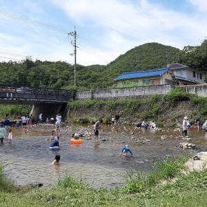 【猪名川町の子連れオススメスポット】「道の駅いながわ」の裏の川で赤ちゃんと水遊び!川の水が澄んでいて魚もいる自然いっぱいの穴場!