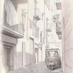 イタリア,シチリア  パレルモの路地